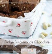 Fudge funcional de chocolate