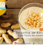 Smoothie de Banana com Pasta de Amendoim